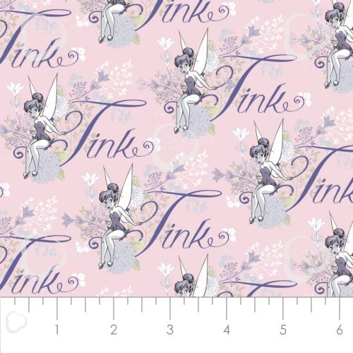 Disney Tinkerbell Pink 100% Cotton